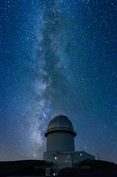 Milky way in Aragon Observatory, Spain