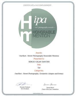 certificado OJO STREET, GEOMETRIC (SHAPES AND FORMS)